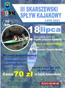 spływ kajakowy 2021
